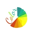Color wheel circular color palette with vibrant vector image