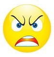 angry emoticon emoji smiley - vector image