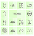 14 summer icons vector image vector image