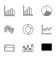 9 diagram icons vector image vector image