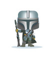 a space soldier in equipment with gun vector image vector image