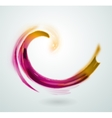 Abstract colorful swirl icon symbol vector image