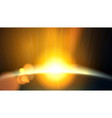 abstract planet beautiful sun rays of light vector image vector image