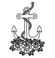 anchor tattoo isolated icon design vector image