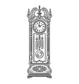 antique grandfather pendulum clock traditional vector image