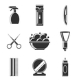 barbershop icon set vector image vector image