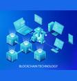 blockchain technology vector image