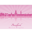 Bradford skyline in purple radiant orchid vector image vector image
