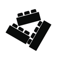 Building bricks black simple icon vector image