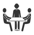 Businessman theme design icon vector image