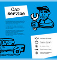 car service concept web banner with scene vector image vector image