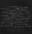 Chalk board with formulas vector image vector image