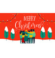 christmas diverse friend group hug greeting card vector image vector image