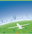 cologne skyline flight destination vector image vector image