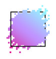 colorful square pixel banner vector image