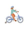 cute teen or pre-teen girl ride a 4 wheel bike in vector image vector image