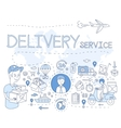 Delivery Service Infographics vector image