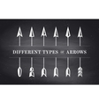 Design elements different types of arrows in retro vector image vector image