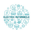 electric automobile round in vector image vector image