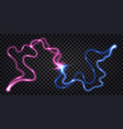 electric discharge wave swirl clash shock effect vector image