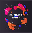 fashionable modern poster with vinyl summer party vector image vector image