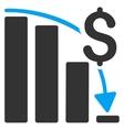 Financial Crisis Icon vector image vector image