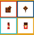 flat icon sweet set of chocolate bar cocoa vector image vector image