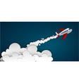 flying air plane concept vector image vector image
