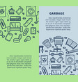 garbage promotional vertical monochrome posters vector image vector image