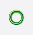green circle looped spiral icon logo abstract vector image vector image