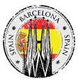 grunge rubber stamp barcelona spain vector image