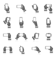 Hand Phone Icons vector image vector image