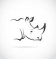 image of rhino head vector image vector image