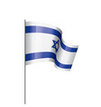 israel flag on a white vector image vector image