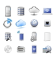 IT web hosting icons vector image vector image