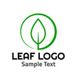 leaf logo symbol icon sign vector image