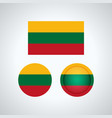lithuanian trio flags vector image vector image