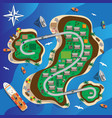 map island with citys infrastructure vector image vector image