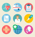 medical icon set health care medicine service vector image