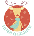 new deer card vector image vector image