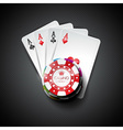 on a casino theme with playing cards vector image vector image