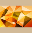 orange triangle abstract background vector image