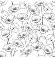 pattern of poppy vector image