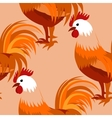 pattern with cock vector image vector image