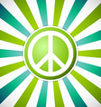 Peace emblem vector image vector image