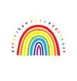 rainbow logo cute hand drawn rainbow icon vector image