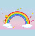 rainbow with music theme and glitter on pastel vector image vector image