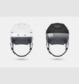 realistic classic ice hockey helmets with visor vector image vector image