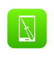renovation phone icon digital green vector image vector image