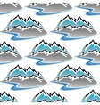 Seamless pattern of winter mountains and streams vector image vector image